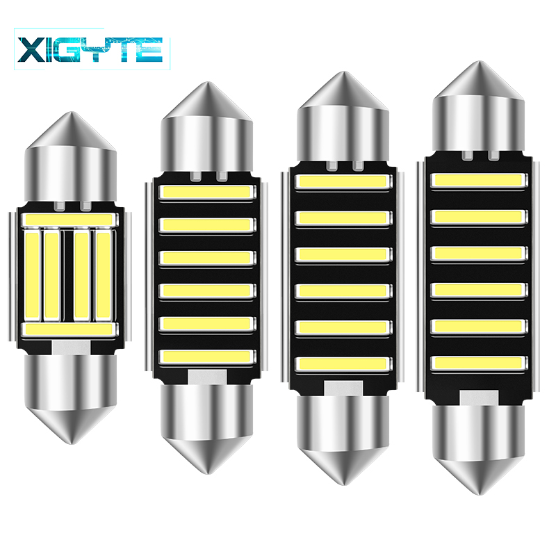 NEW 31mm 36mm 40mm 42mm Dome Light SMD 7020 LED CANBUS Car Interior Reading Bulb C5w License Plate Lamp No Error Car Accessories