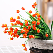 Plastic fake rose flower simulation bouquet plastic water grass indoor and outdoor trough inserted decorative plants