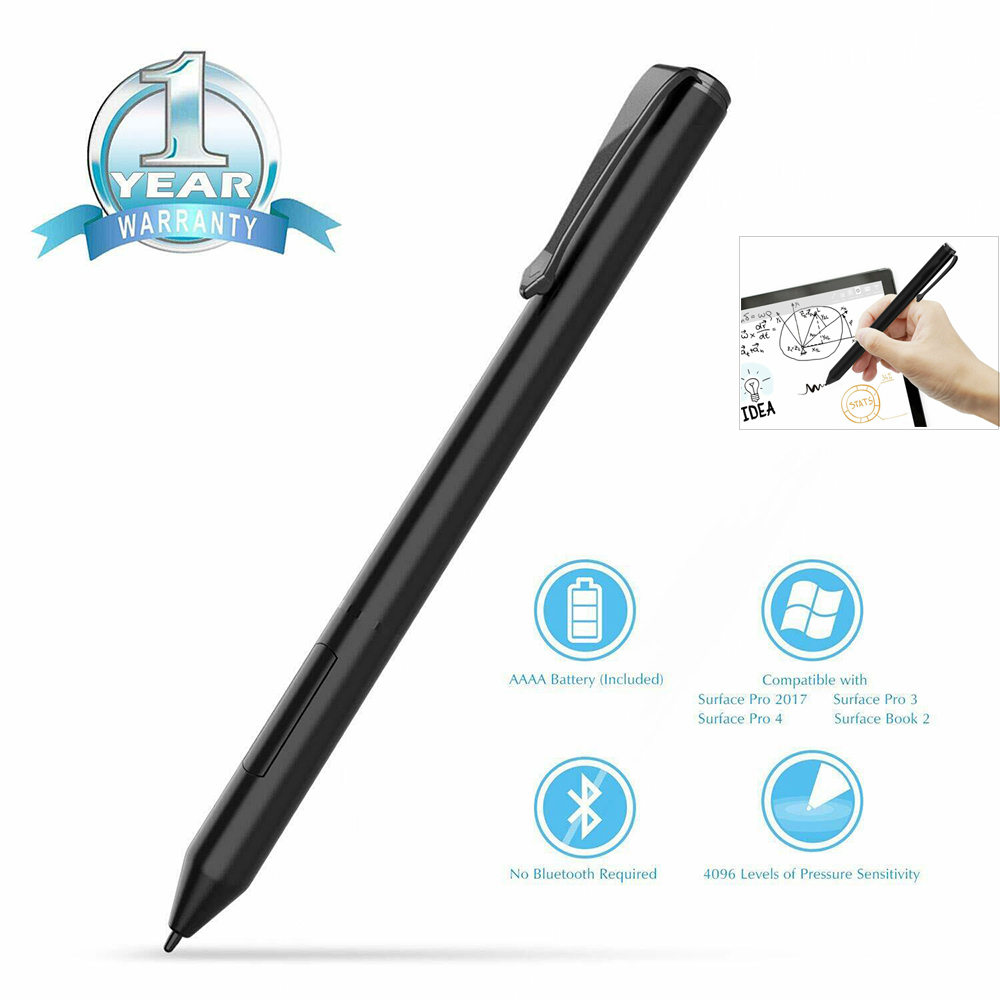 New 4096 Pressure Stylus Pen for Microsoft Surface 3 Pro 3 Pro 4 Pro <font><b>5</b></font> Pro <font><b>6</b></font> Go Book 142mm Wireless Solid Aluminium Stylus Pen image