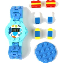 Educational Digital Watch Baseplate Building Blocks By City Technic Figures Classic Brick Educational Watches Base Plate