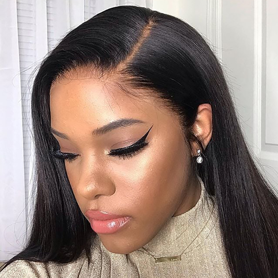 Straight Lace Front Human Hair Wigs For Black Women Short Brazilian Transparent Frontal Bob Long Remy Wig 180 Density Hd Full