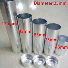 100 шт алюминиевый картридж для стоматологических протезов диаметр