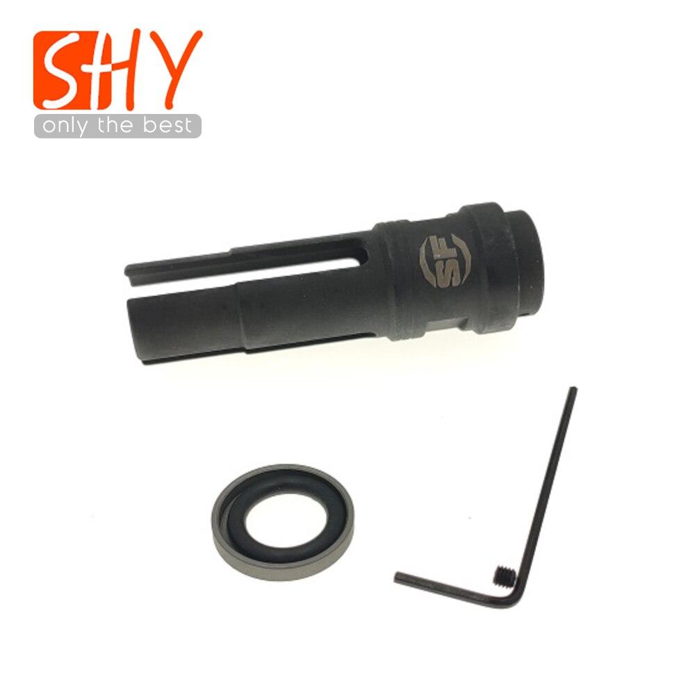 14MM CCW Thread Metal Steel SUREFIRE 3P Socom Flash Hider NO Function Muzzle Device For Toy Gel Ball Blaster AEG Airsoft