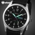 Мужские наручные часы в стиле милитари  водонепроницаемые черные нейлоновые спортивные часы для мужчин