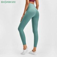 Shinbeneクラシック2.0バターソフト裸感触運動フィットネスレギンス女性ストレッチスクワット防水ジムスポーツタイツヨガパンツ
