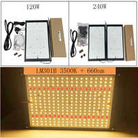 2 stücke hohe qualität 120W 240W Led Wachsen Licht Quanten Bord Volle Spektrum Samsung LM301B SK 3000K 3500K 4000K 660nm DIY