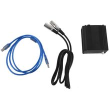 ホット48 5vのusbファントム電源usbケーブルマイクケーブルマイクコンデンサー記録装置 ブラック