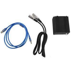 Image 1 - Sıcak 48V USB fantom güç kaynağı USB kablosu mikrofon kablosu Mini mikrofon kondenser kayıt cihazı siyah