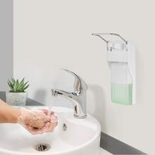 Naścienny dozownik do mydła dozownik środka dezynfekującego ABS ręczny dozownik mydła dozownik do mydła prasa do łokcia pompka do mydła na domowy Hotel łazienka 1000ml tanie tanio JUSHFO CN (pochodzenie) Dozownik mydła w płynie Dozownik mydła ręcznie Soap Dispenser Other kitchen Bathroom