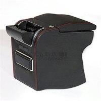 משלוח אגרוף חליפת לmg 3 רכב משענת רכב משענת תיבת מפעל 9 פונקציה עם USB נסתר כוס מושב לא קידוח Consolle תיבה