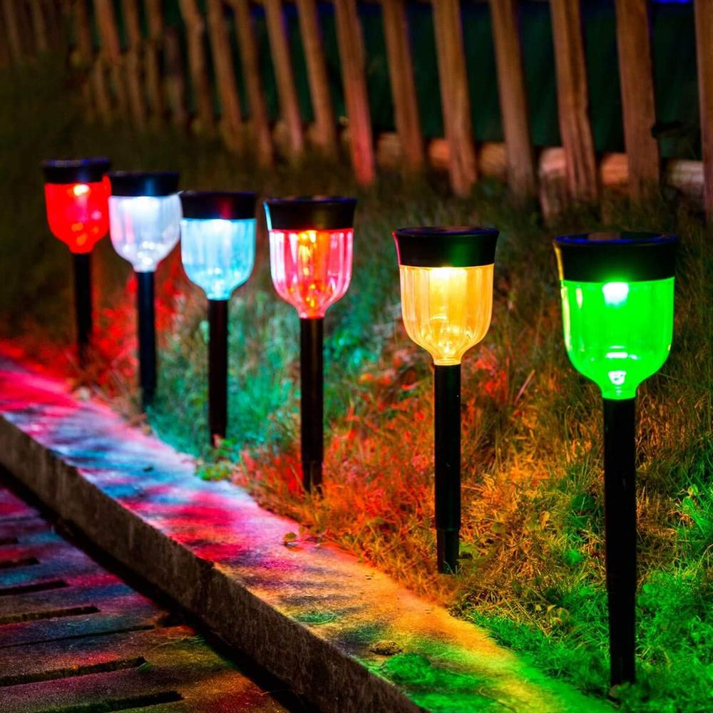 7 Colour Changing Solar Pathway Lights