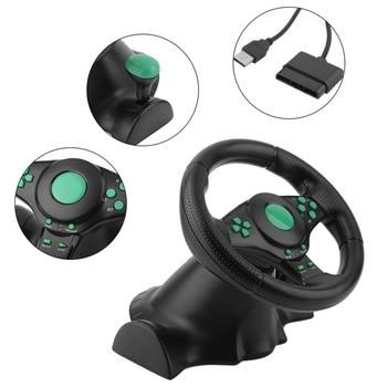 Racing Game Stuurwiel Voor XBOX 360 PS2 Voor PS3 Computer USB Auto Stuurwiel 180 Graden Rotatie Vibratie met Pedalen