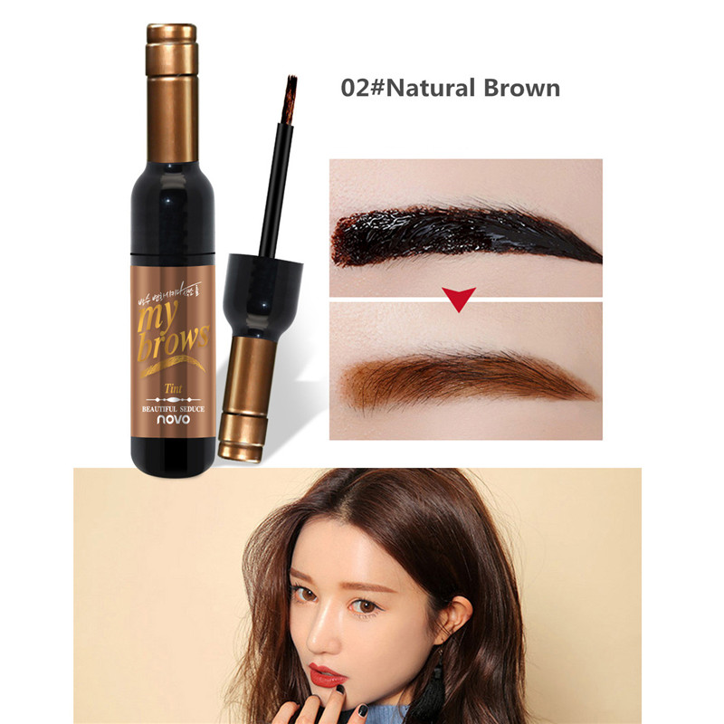 Peel off Tattoo Eyebrow Gel Long lasting Dye Tinted Brow Cream Waterproof Paint Makeup Eye Tint Cosmetics Black Brown Eyebrows in Eyebrow Enhancers from Beauty Health
