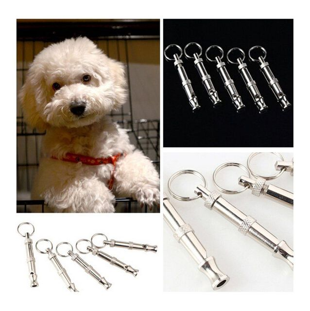 Puppy Pet Dog Whistle Ultrasonic Flute Stop Barking Ultrasonic Sound Repeller Cat Training Keychain Pet Taining Tool 1