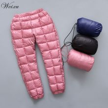 цены Winter Children Down Cotton Clothing Boys Pants Girls Leggings Kids Warm Down Trousers Windproof Waterproof Snow Pants For Kids