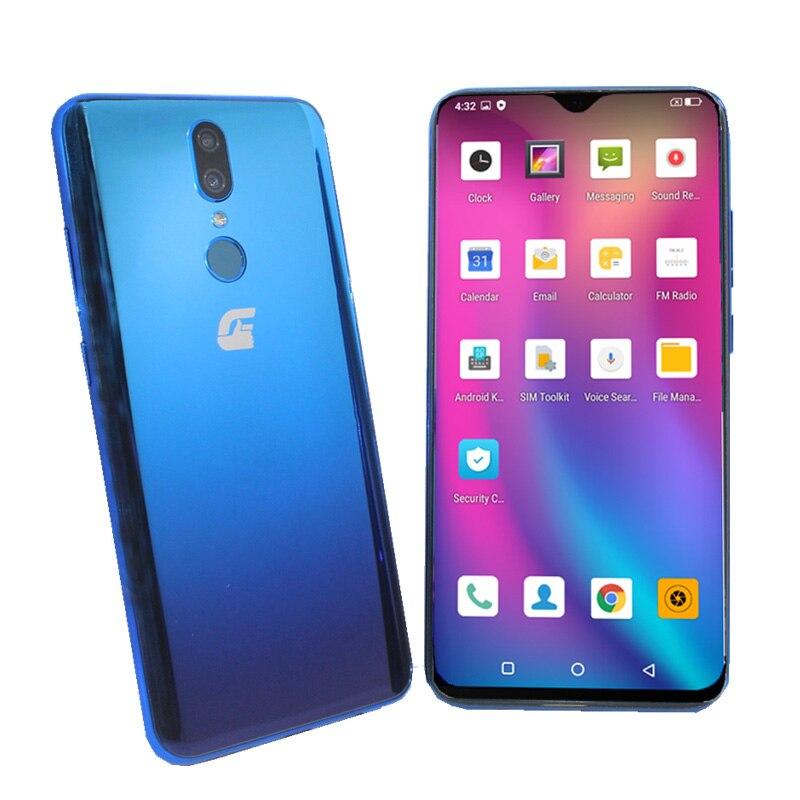 Smartphone 6.3 pouces 002 Plus 4G appel téléphonique 3GB + 64GB Android 9.0 MT6765 octa-core double emplacement pour carte SIM 13MP étui cadeau gratuit