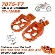 7075 CNC pomarańczowy podnóżek podnóżek zestaw pedały dla KTM 125 SX EXC 200 XC-W XCF-W 250 EXC-F FREERIDE SX-F 250R 250R 350 400 450