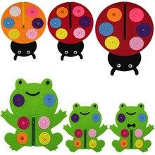 1 Set Felt Handmade Frog Beetle Diy Crafts for Kids Manual Early-teaching Toys Parent-child Interactive Elf Christmas