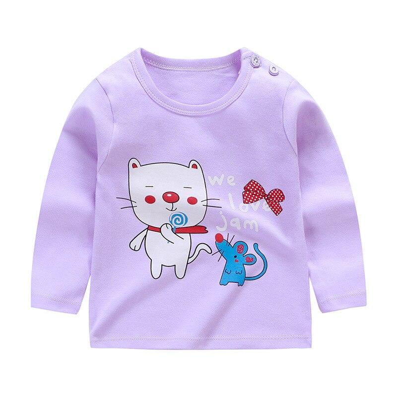 Girls Tops New Baby Girls Clothing Girls Long Sleeve T Shirt Children's Clothing Casual Tops Tee Shirt Boys Long Sleeve Tops