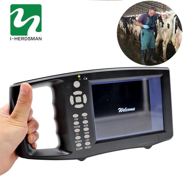 5,6 дюймовый ЖК экран портативный ветеринарный ультразвуковой сканер для крупного рогатого скота, коровы, свиньи, овцы, лошади, фермы ультраз