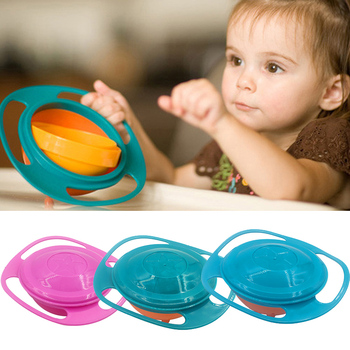 Universal Gyro Training Bowl Practical Design Children Rotary Balance Novelty 360 Degrees Rotate Spill-Proof Baby Feeding Dishes - discount item  20% OFF Feeding