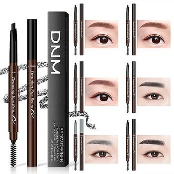 Women 1Pcs Dual-head Automatic Eyebrow Pencil Long-Lasting Waterproof Smudge-Proof Eyebrow Shadow Easy To Use With Eyebrow Brush