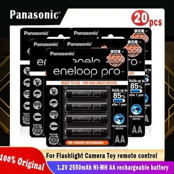 20pcs Panasonic Eneloop Original Battery Pro AA 2550mAh 1.2V NI-MH Camera Flashlight Toy Pre-Charged Rechargeable Batteries 1