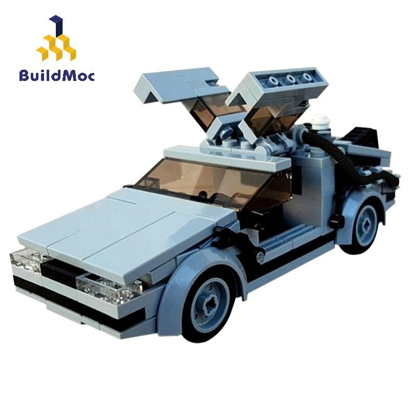 BuildMoc Delorean Назад в будущее техника машинное время машина MOC кино гоночный автомобиль строительные блоки кирпичи техника игрушка для детей