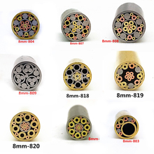 8ミリメートルモザイクピンリベットナイフハンドルネジ飾る21種類のデザイン絶妙なスタイルの長さ9センチメートル