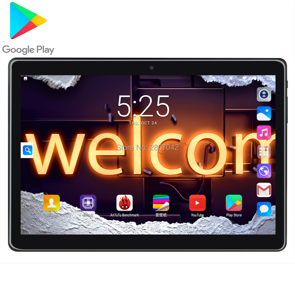 2020 New Design 10 Inch Android 9.0 3G Tablet Pc  32GB Dual SIM Card 1280*800 HD Large Screen Dual Camera 4 Core Tablets