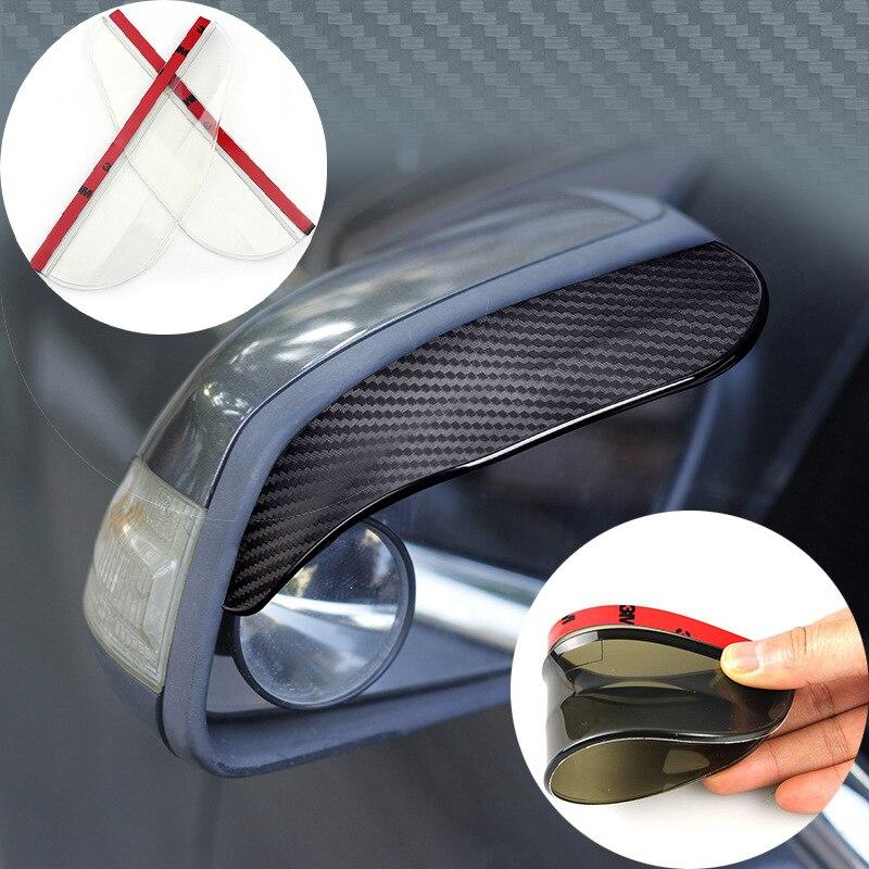 Утолщенная текстура из углеродного волокна, дождевик для зеркала заднего вида, дождевик для автомобильного зеркала заднего вида, дождевая ...