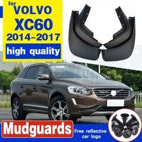 Conjunto OEM Splash guardias barro guardabarros montaje guardabarros de coche para VOLVO XC60 2014-2017 de 31359689/90 guardabarros 2015  2016