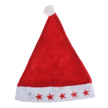Czapka świąteczna LED dla dzieci czapka świąteczna dla świętego mikołaja nowe czapki bożonarodzeniowe tanie i dobre opinie JETTING CN (pochodzenie) Dla dorosłych COTTON Christmas Decor Hat