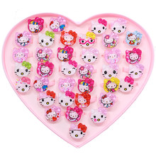 20pcs/lot Love Mixed Cartoon Children Fruit Animal Jewelry Rabbit Cat Princess for Girls Kids Finger Rings Baby Party Gifts(China)