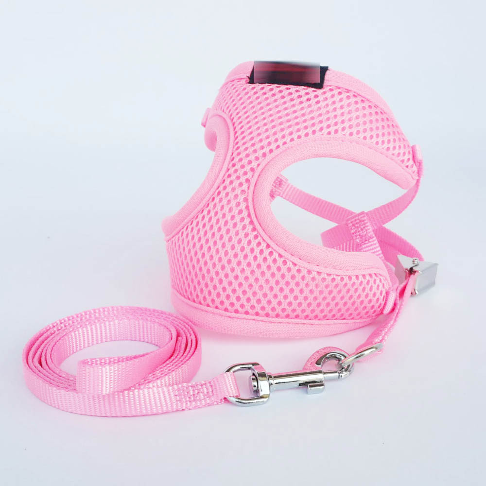 Hot Selling Pet Traction Chest Suspender Strap Breathable Mesh Dog Vest Style Traction Belt Clip Regulation Grid Suspender Strap