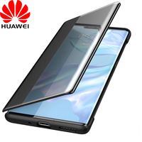 Huawei Mate 30 Pro Flip Case Cover 100% Original Official Huawei Mate 30 Pro Clear View Smart Touch View Flip Leather Case Funda