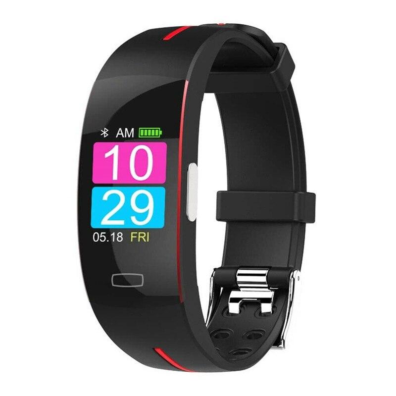 LYKRY P3 Plus ECG PPG Bracelet de Fitness intelligent podomètre Calories fréquence cardiaque pression artérielle hommes montre intelligente femmes Bracelet de santé