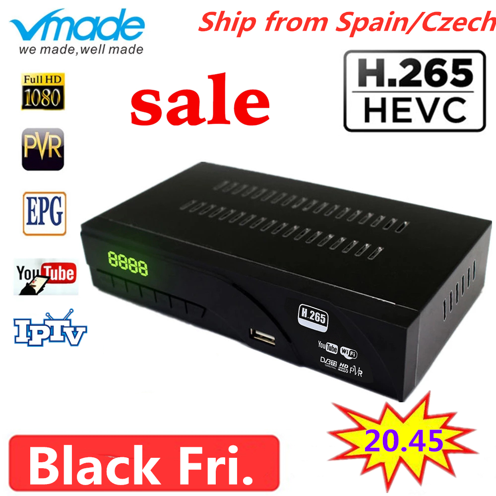 Hot-selling DVB-T2 H.265 HAVC Full HD 1080P Terrestrial Receiver TV Box With TV SCART Support AC3,Dolby,Youtube Set Top Boxes