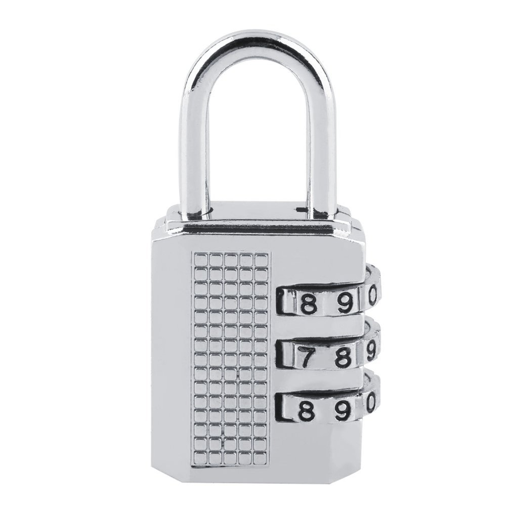 3 4 Digit Password Lock Combination Zinc Alloy Security Lock Suitcase Luggage Coded Lock Cupboard Cabinet Locker Padlock