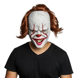 Image 3 - Joker Mask Movie Batman The Dark Knight Cosplay Horror Scary Clown Mask with Green Hair Wig Halloween Latex Mask Party Costume