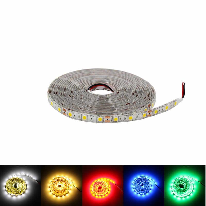 5 メートル防水 LED ストリップ RGB 2835SMD 5050SMD ネオンリボン柔軟なライトストリップテープ