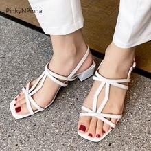 Женские сандалии гладиаторы из натуральной кожи с Т образным