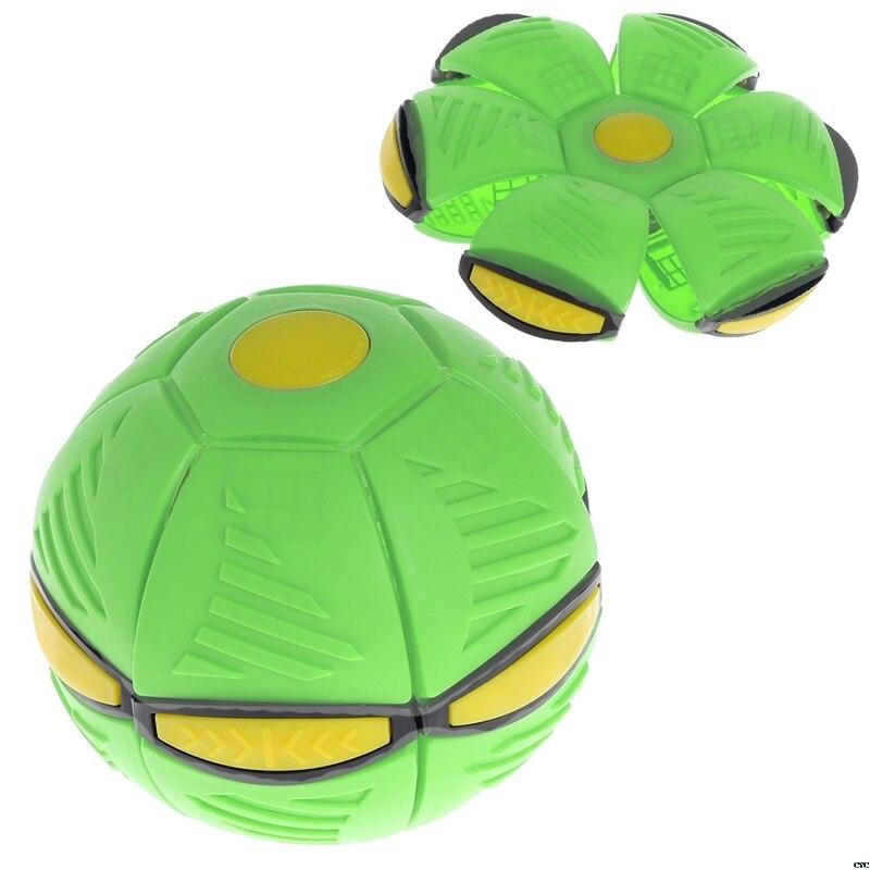 Ballon de disque volant UFO à lancer plat, avec jouet lumineux à LED enfants, jeu de basket-Ball, jardin en plein air