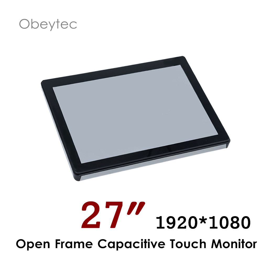 Monitor für 27 zoll HDMI TV , 1920*1080, 300cd/m2, kapazitiven touchscreen, 10 punkte, OB-OPM-270