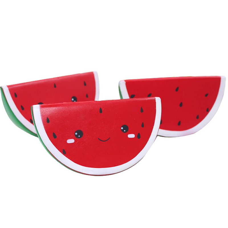 Fidget-Toys Watermelon Kids Rebound Gift Anti-Stress Slow Funny PU Squishy Soft Smiley img3