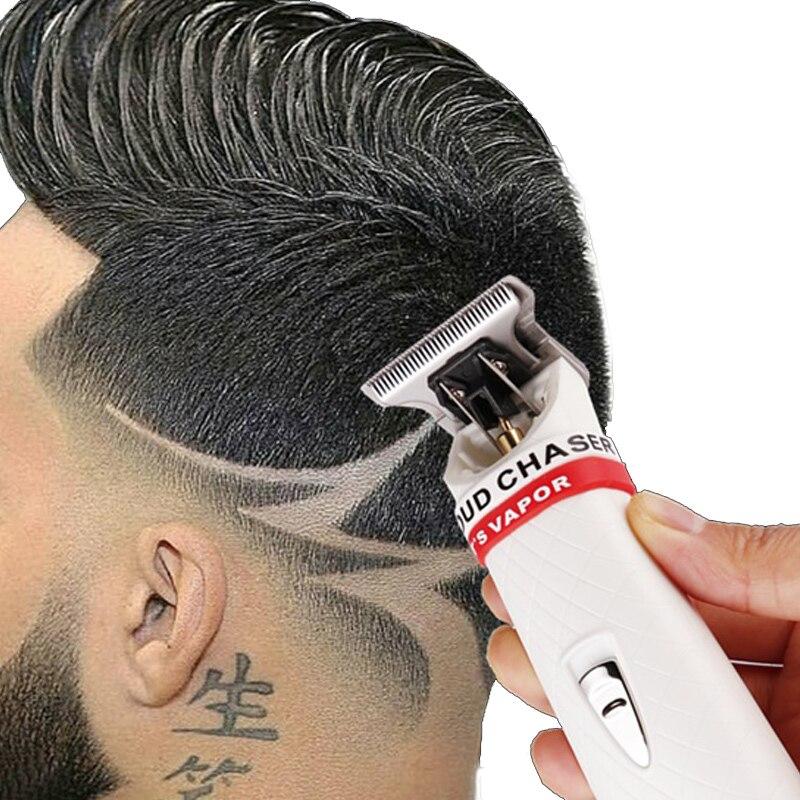 Professional Cordless Hair Clipper Trimmer Beard Shaving For Men Barber Electric Razor Mower 0.1mm Cutter Hair Cutting Machine