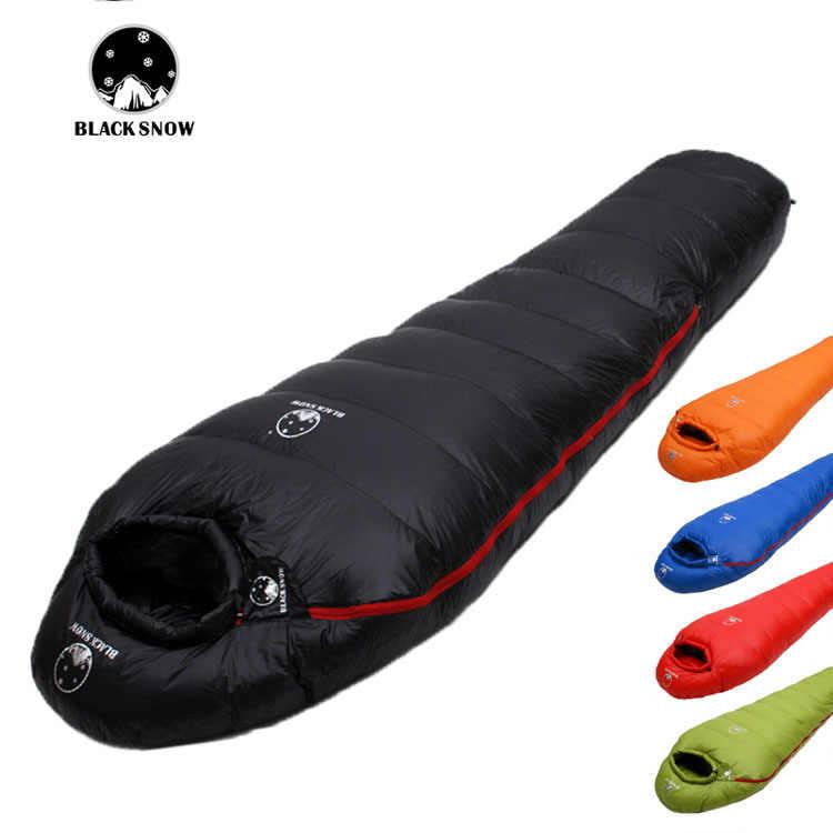 SCHWARZ SCHNEE Winter outdoor camping mumien weiche gans unten schlafsack ultra licht warme nähte doppel schlafsack 400g -2000g