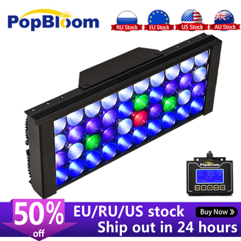 PopBloom Aquarium Lighting Controller Aquarium Led Light Lamp for Aquarium Marine Coral Reef Grow Light Fish Tank Bulb Turing30 sunsun ads aquarium led lighting aquatic plant grass fish tank led light super bright lamp aquarium light 12 24w grow lampe 220v