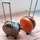Mode Vrouwen Ronde Rolling Bagage Spinner 20 inch Hoge capaciteit Wachtwoord Cabine Koffer Wielen Reistassen - 3