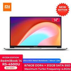 Xiaomi Redmibook 14 II Ryzen Edition Laptop AMD Ryzen 5 4500U 14 Inch 1920 x 1080 FHD Screen Windows 10 16GB/8GB DDR4 512GB SSD